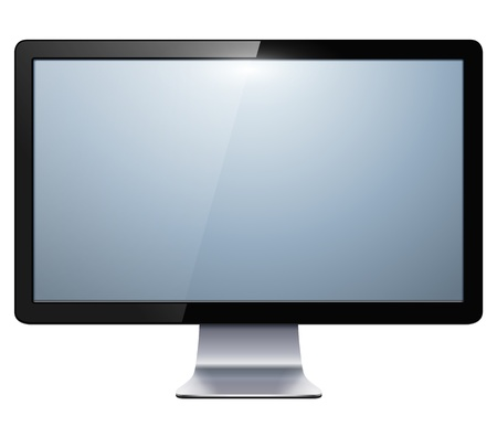 lcd monitor: lcd tv monitor isolated illustration. Illustration