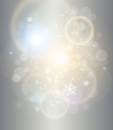 Abstract Christmas background silver with white snowflakes, elegant vector illustration. Stock Vector - 15121169