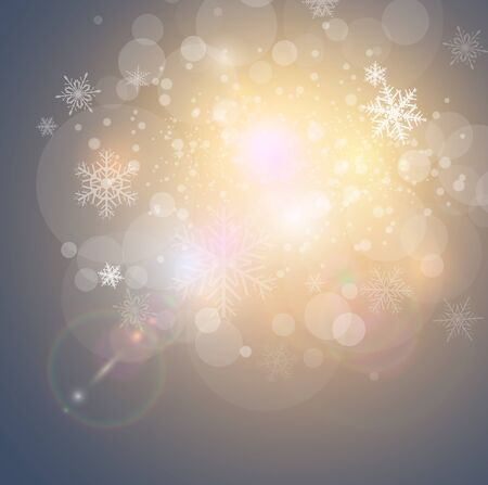 Abstract Christmas background with snowflakes, vector illustration. Stock Vector - 15121168