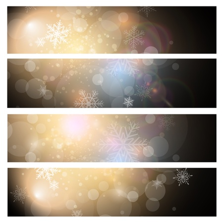 Banners design, vector backgrounds with winter, christmas theme. Stock Vector - 15121167