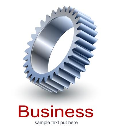 Logo design, technology metallic gear.
