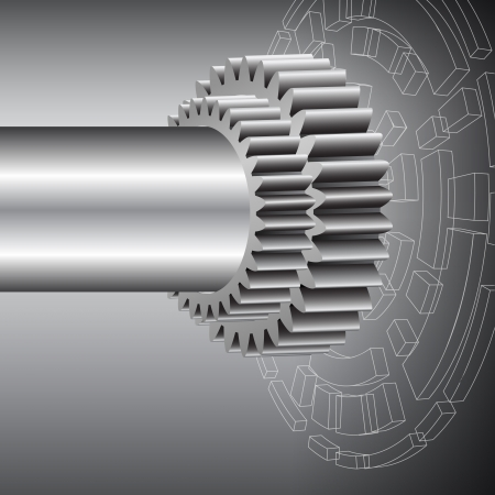 rackwheel: Technology background with metal gears Illustration