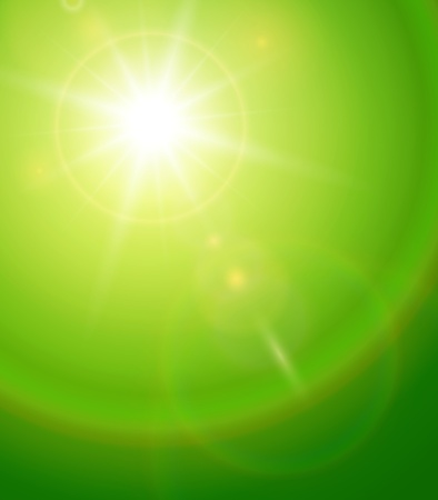 rise and shine: Natural background with vector sun and lens flare.