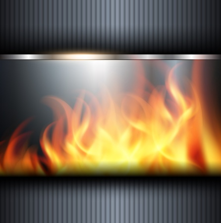 hard cover: Abstract background with vector fire flames.