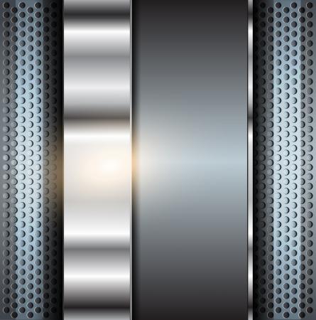 Technologiehintergrund, metallische Abbildung.