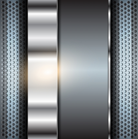 ironworks: Technology background, metallic  illustration. Illustration