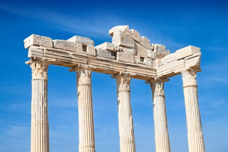 Temple of Apollo ancient ruins in Side Turkey. photo