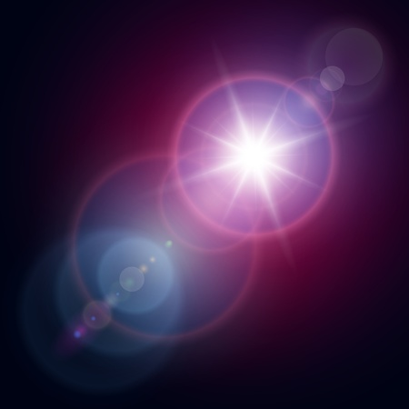 Vector star, sun with lens flare. Stock Vector - 16400103