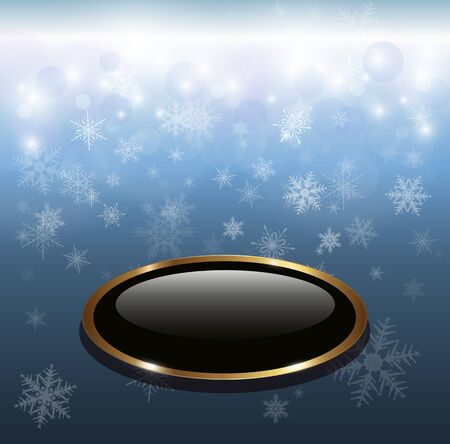 Winter christmas background blue with snowflakes, vector. Stock Vector - 16400109