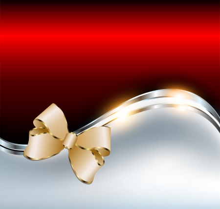 Abstract background elegant red with gold bow Vector