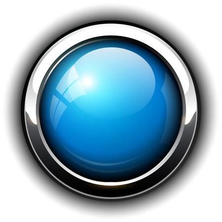 хром: Blueshiny кнопки, дизайн. Иллюстрация