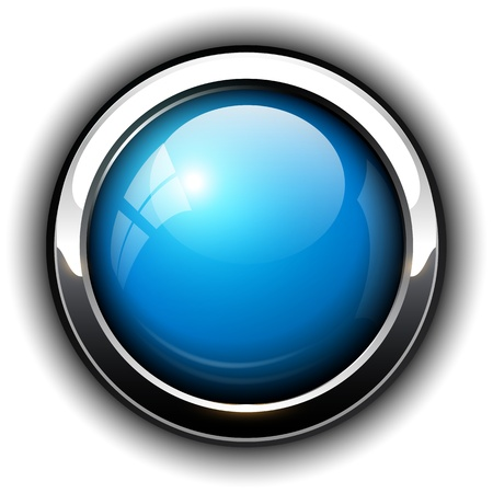 Blueshiny button, design.