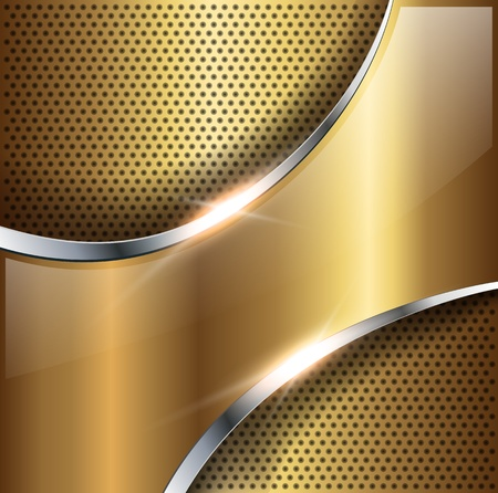 aerodynamic: Abstract background gold glossy metallic, vector illustration.