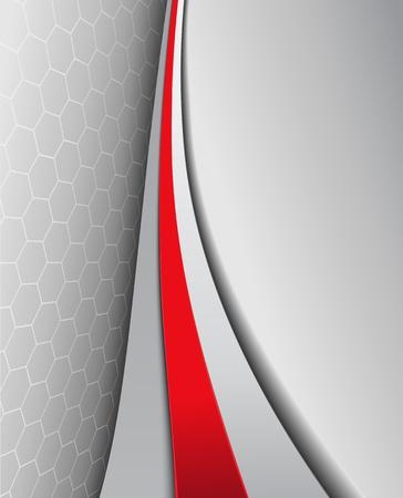 papier en t�te: Business background, gris �l�gant avec le rouge, dessin vectoriel. Illustration