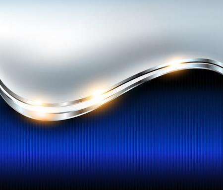Fondo abstracto elegante azul de plata, vector