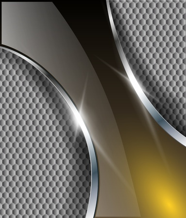 Abstract metallic background, vector design. Vector