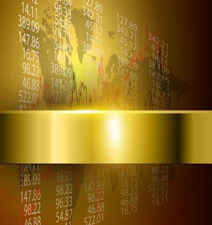 finanse: business background gold, vector. Illustration