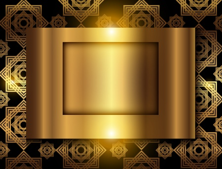 Business background, elegant gold, vector. Stock Vector - 17191571