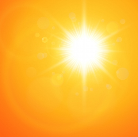 Summer natural  background with vector sun.  Vector