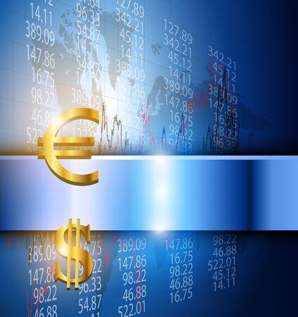 Business background 3d blue, illustration. Stock Vector - 17226334