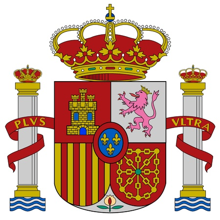 Spain flag coat of arms, vector illustration. Vector