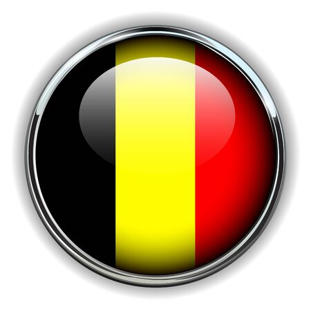 Belgium flag button Illustration