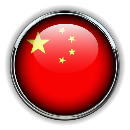 flag button: China flag button Illustration