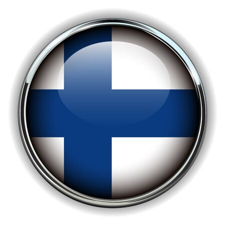 finland flag: Finland flag button Illustration