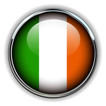 Ireland flag button Stock Vector - 17411687