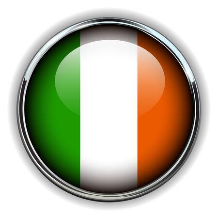 Ireland flag button Stock Vector - 17411687