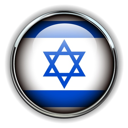 Israel flag button Vector