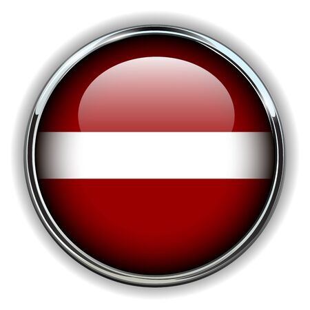 Latvia flag button Vector