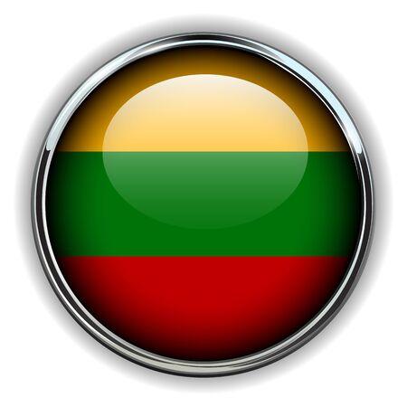 lithuania flag: Lithuania flag button
