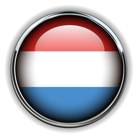 Luxembourg flag button Stock Vector - 17411706