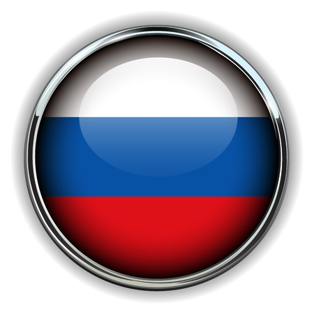 russia flag: Russia flag button  Illustration