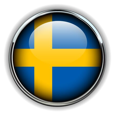 sweden flag: Sweden flag button  Illustration
