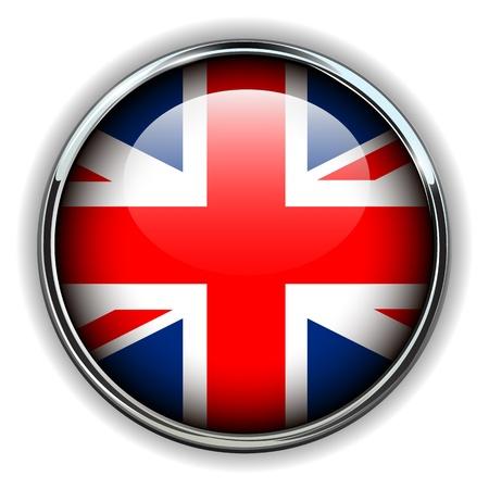 bandera reino unido: Reino Unido, el bot�n de bandera del Reino Unido