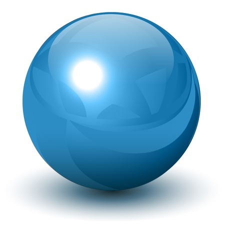 the sphere: Azul esfera metálica