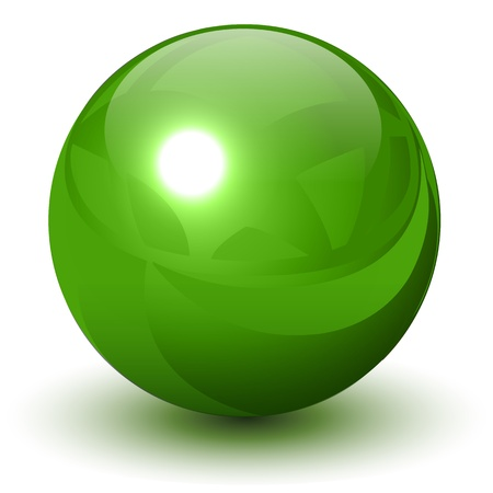 Green metallic sphere Illustration