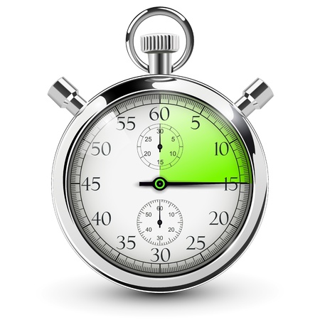 sec: 15 seconds stop watch. Illustration
