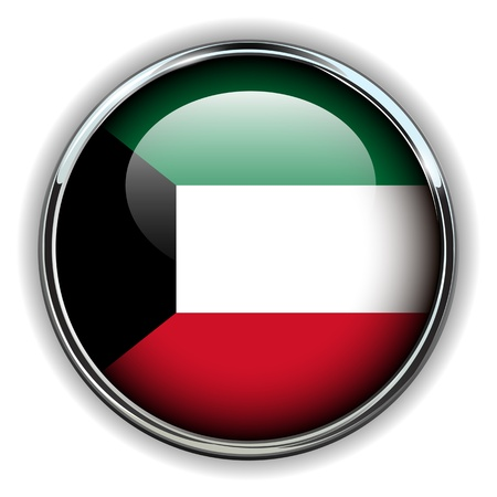 pers: Kuwait flag button Illustration