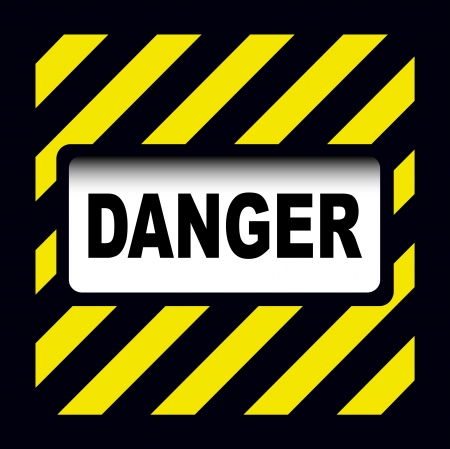 Danger sign over warning stripes background Stock Vector - 17777740