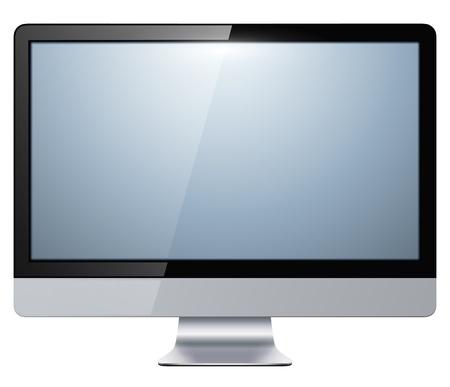 computer screen: lcd tv monitor isolated, vector illustration. Illustration