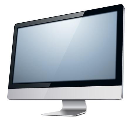 oled: lcd tv monitor, illustration.