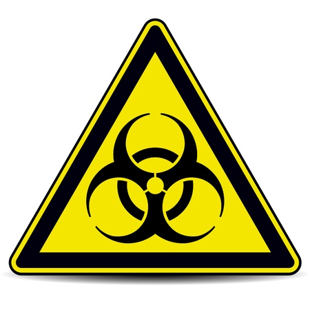 Biohazard, sign. Ilustrace