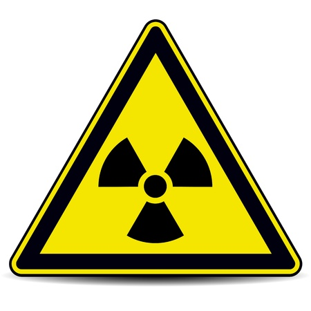 danger of radiation: Radiation danger sign
