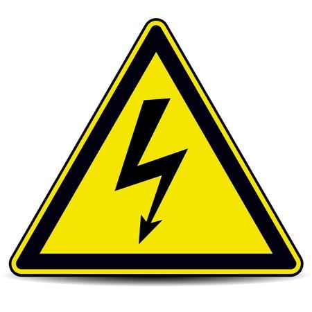 danger: alto segno di pericolo di tensione
