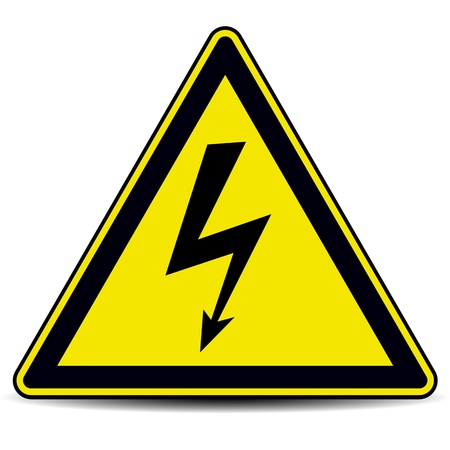 danger symbol: high voltage danger sign