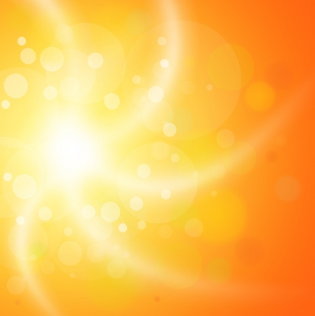 Abstract orange sunny background. Stock Vector - 18088871