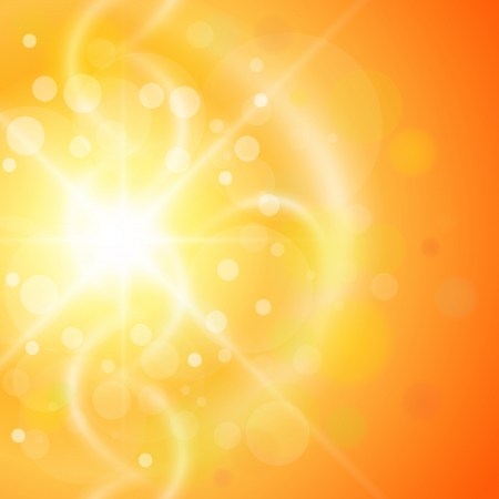 Abstract orange sunny background.
